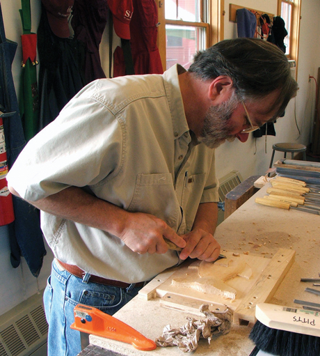 Furniture-maker Andrew Pitts is a member of the Northern Neck Artisan Trail.