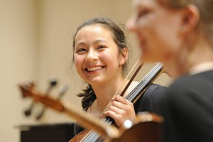 Viva Virginia Master Class; string quartet members; music.