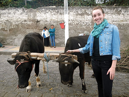 Alexandra Thompson studies the role cultural traditions play in nutrition and health care administration in Ecuador.