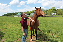 Robert Jacobs, a graduate student in equine reproduction