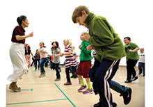 Sarah Burkett conducts more than 10 educational programs for children and adults.