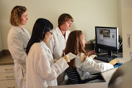 Susan Duncan uses state-of-the art video technology to study the behavior response to food.