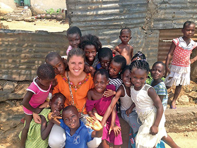 Cassella Slater works as an AgriCorps member in Ghana where she teaches kids about agriculture.
