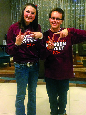 Elizabeth Galbreath and Lester Schonberger were two of the three students who attended the Agriculture Future of America conference last fall.