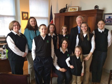 4-H members and volunteers participated in 4-H Day at the Virginia State Capitol in Richmond in February.