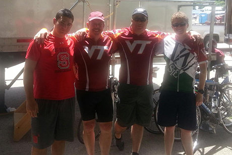 Pictured left to right: Grady Boyle, Kevin Boyle, John Rowsell, and Phil Rowsell as they participated in the 42nd annual ride in July.