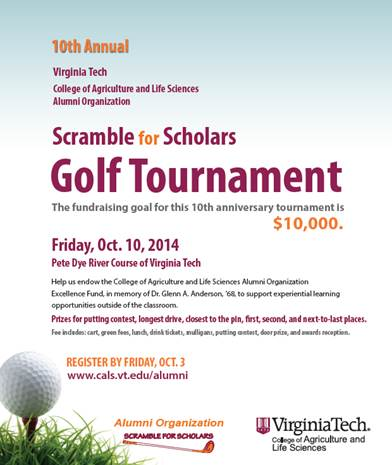 Scramble for Scholars golf tournament
