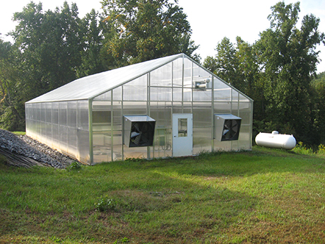 The new greenhouse at Reynolds Homestead has superior climate control under both summer and winter conditions.