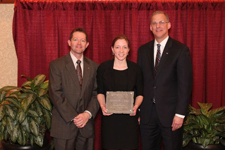 Lindy Tucker, of Kenbridge, Virginia, the Department of Crop and Soil Environmental Sciences' Outstanding Recent Alumna