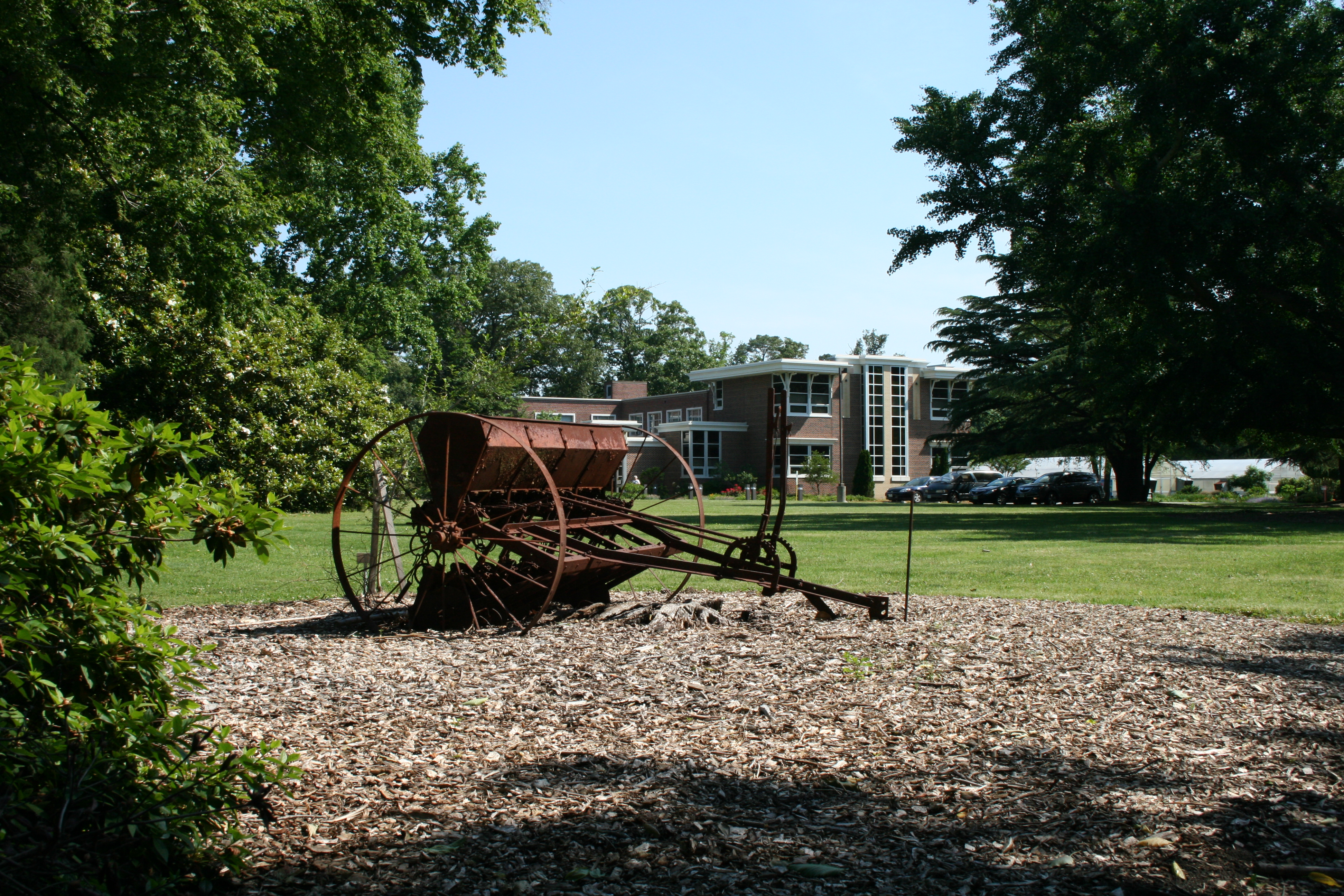 Old combine in front of the Hampton Roads AREC