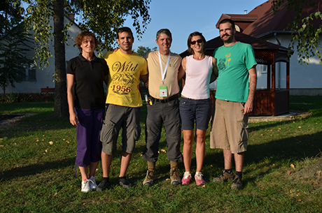 Croatia-Serbia team at the International Field Course and Soil Judging Contest in Gödöllő, Hungary. Left to right: Natasa Nikolic (Serbia), Marko Runjic (Croatia), John Galbraith (USA), Mario Mesarić (Croatia), Natasa Bacanovic (Serbia)