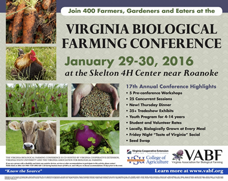 Virginia Biological Farming Conference information