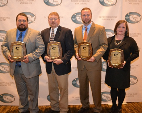 The Virginia Agriculture Leaders Obtaining Results program was one of four education programs to receive the 2015 National Association of Agricultural Educators Outstanding Postsecondary/Adult Agricultural Education Program Award. Megan Siebel, right, director of the program, is pictured with the other winners (from left) Brydon Kaster, Craig Grisham, and Bert Bodiford.
