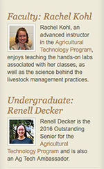 Featured faculty and student profiles on CALS homepage